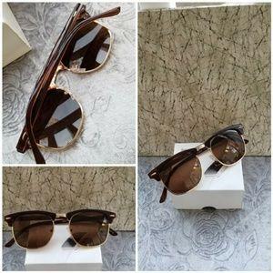 Clubmaster style Classic Semi Rimless Sunglasses w
